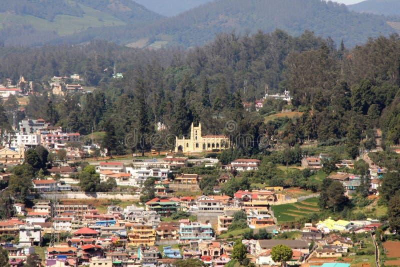 看往乌塔卡蒙德和圣斯蒂芬斯教会 库存图片