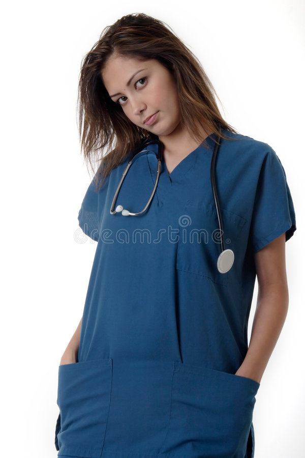 看护学员年轻人 库存图片