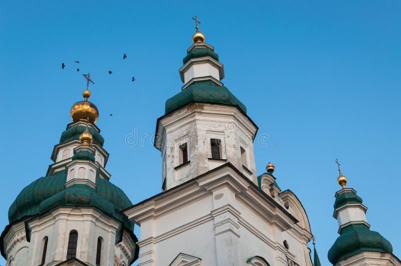 看教会的圆顶 库存照片