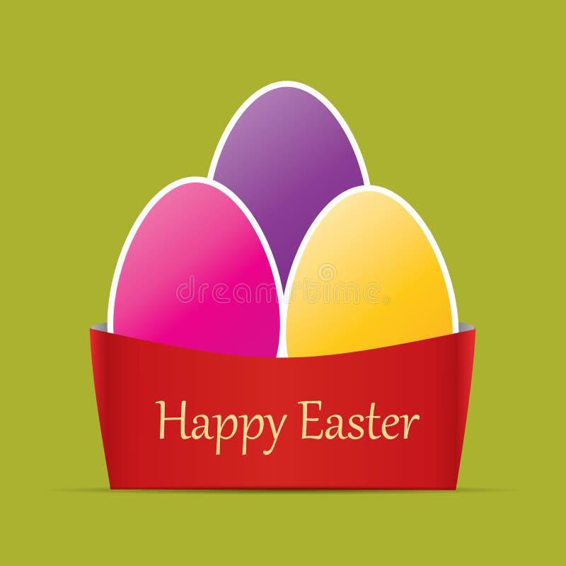看板卡五颜六色的复活节 库存例证