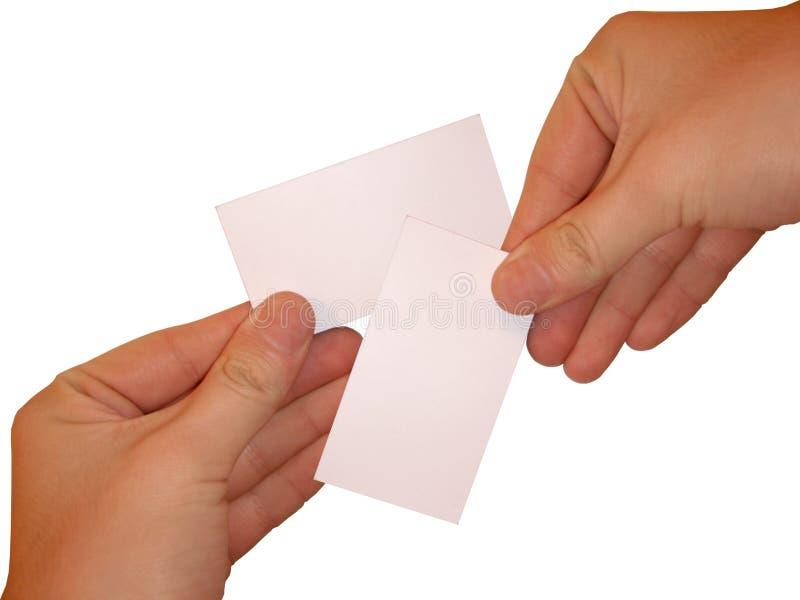 看板卡倒空白色 免版税库存照片