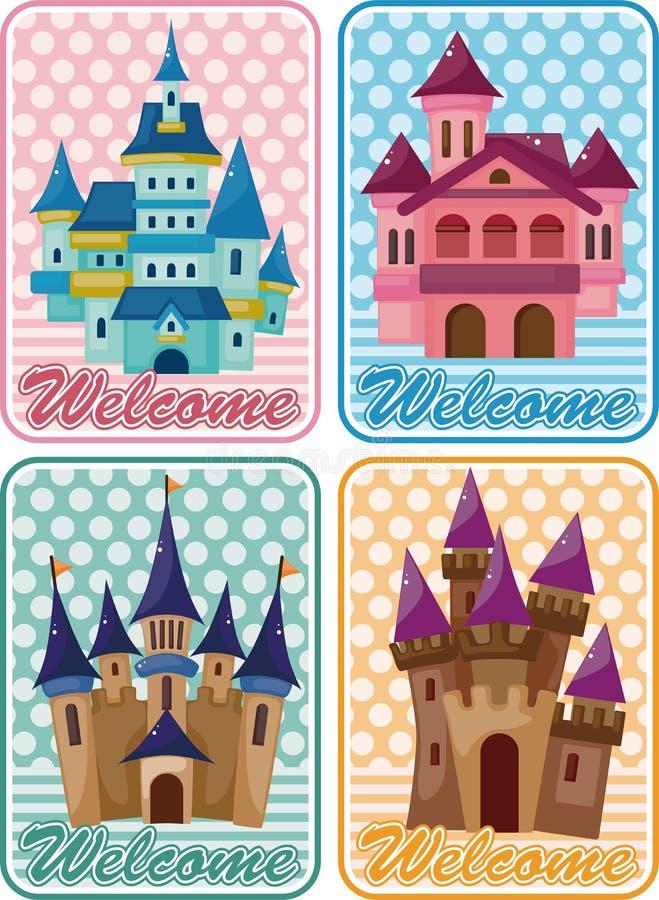 看板卡动画片城堡 皇族释放例证