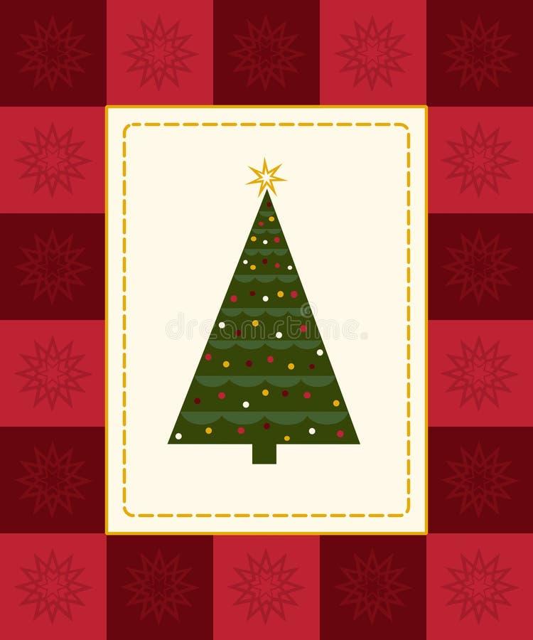 看板卡圣诞树 皇族释放例证