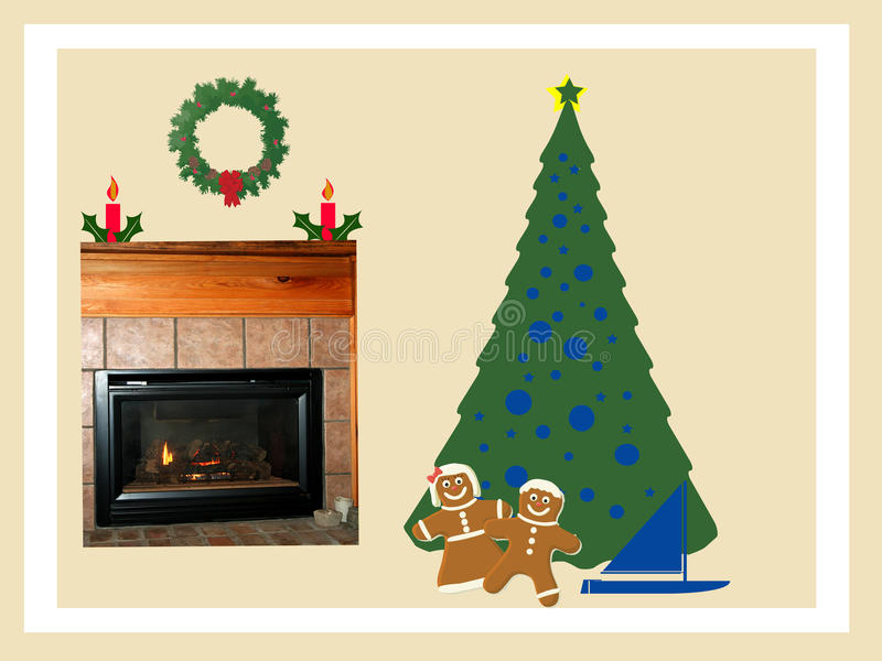 看板卡圣诞节例证 库存例证