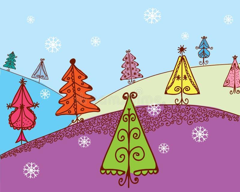 Download 看板卡圣诞节冷杉 向量例证. 插画 包括有 等高, 投反对票, 冷杉, 蓝色, 展望期, 外面, 横向, 背包 - 22358817
