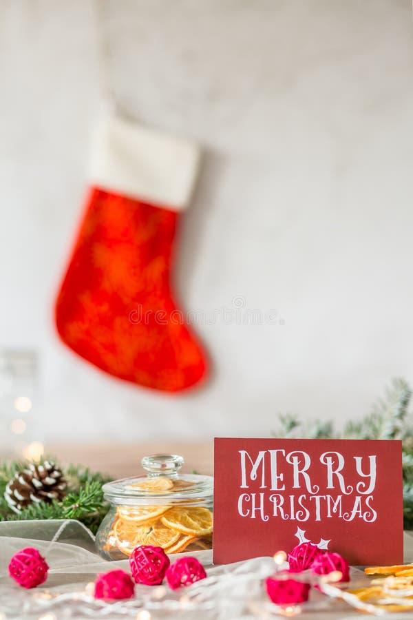 看板卡圣诞节快活的红色 免版税库存图片