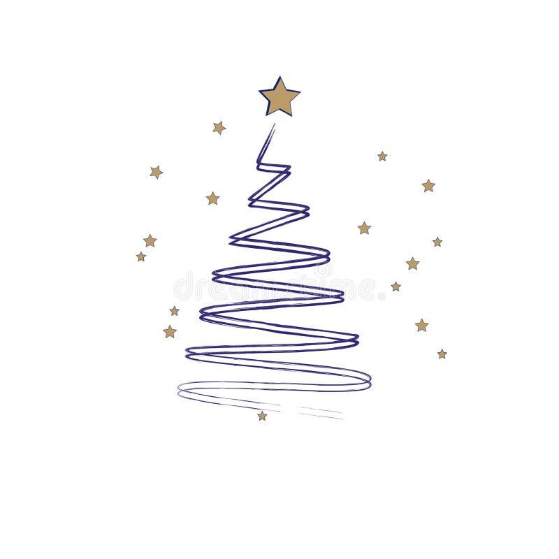 看板卡圣诞节招呼的愉快的快活的新&# 风格化Chri 库存例证