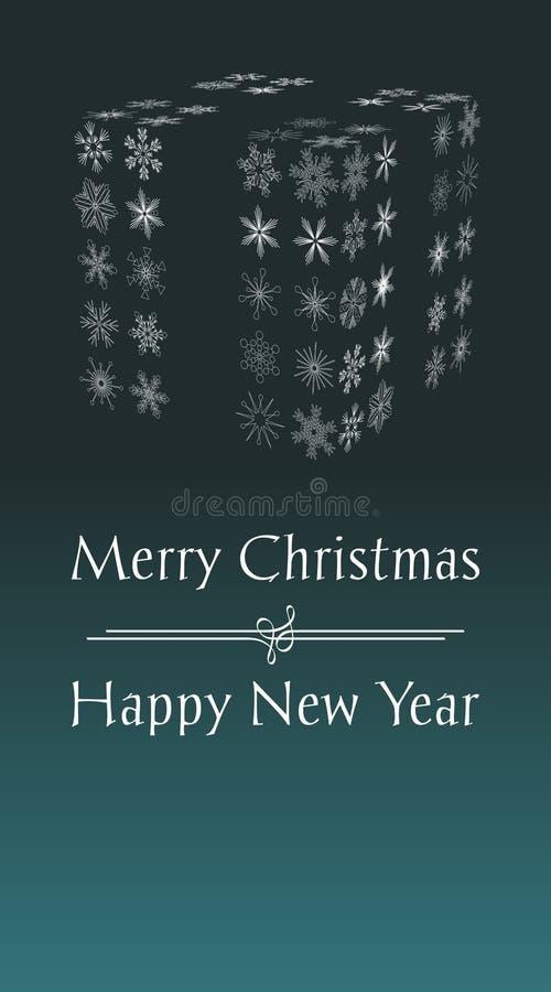 看板卡圣诞节招呼的愉快的快活的新&# 库存例证