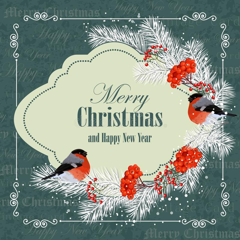 看板卡圣诞节招呼的新年度 库存例证