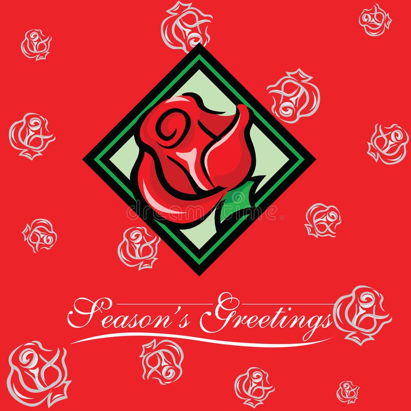 看板卡圣诞节招呼的新的玫瑰色季节&# 向量例证