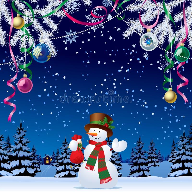 看板卡圣诞节招呼的新年度 向量例证