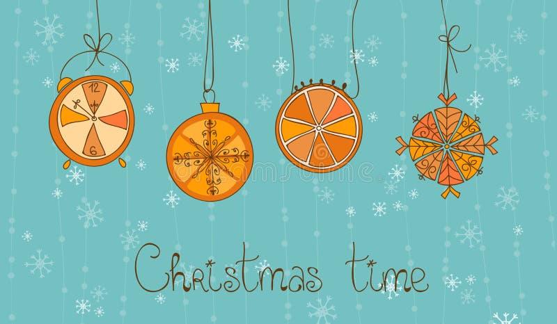 看板卡圣诞节概念时间 库存例证