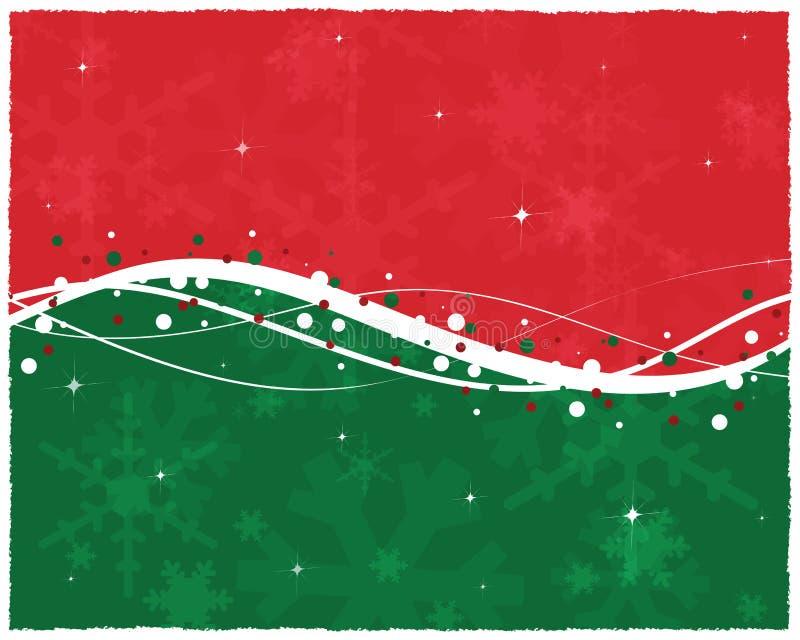 看板卡圣诞节绿色红色 向量例证