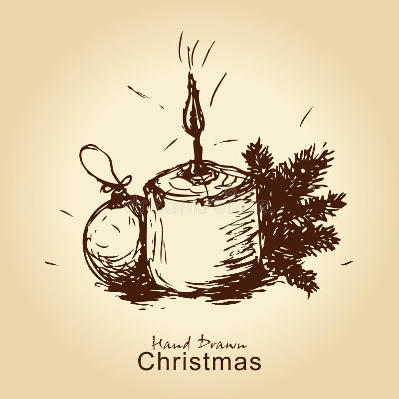 看板卡圣诞节葡萄酒 皇族释放例证