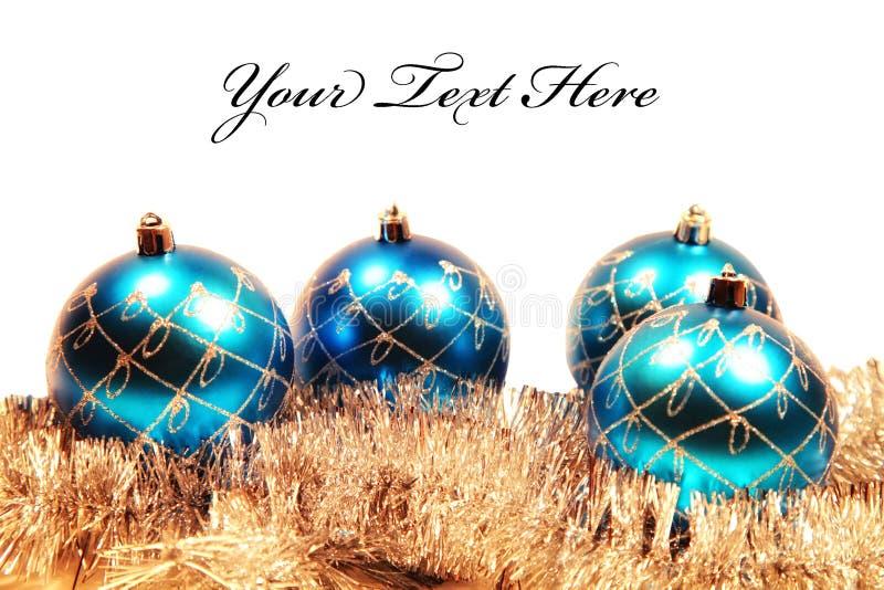 看板卡圣诞节装饰结构树 图库摄影