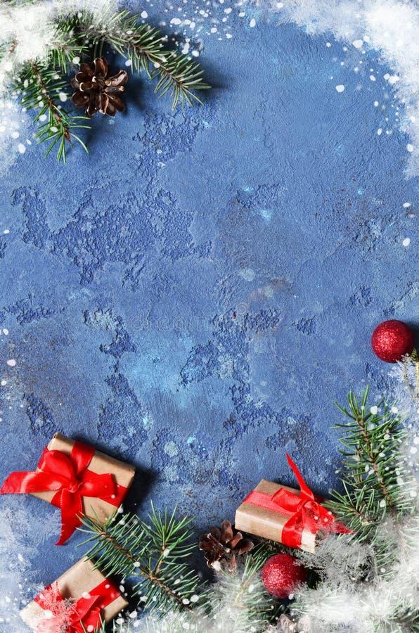 看板卡圣诞节装饰 与pla的圣诞节背景 图库摄影
