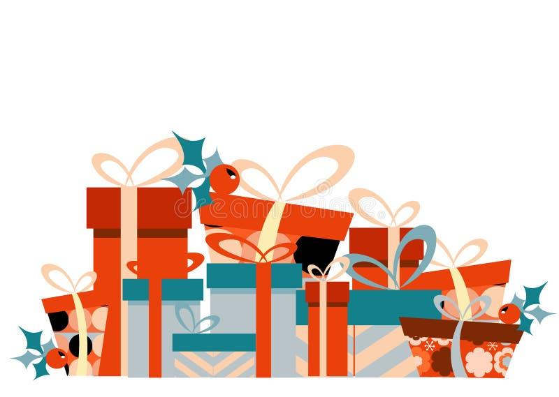 看板卡圣诞节设计 库存例证