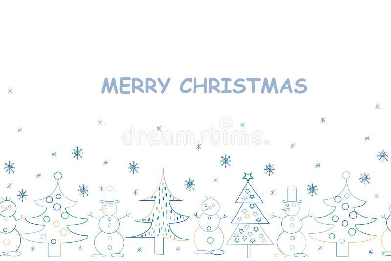 看板卡圣诞节问候 与Sant的手拉的假日背景 库存例证