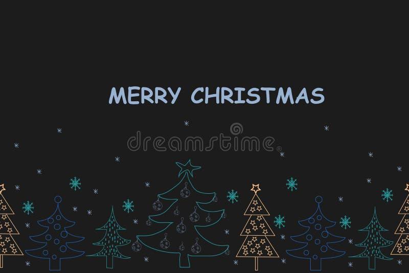 看板卡圣诞节问候 与Sant的手拉的假日背景 皇族释放例证