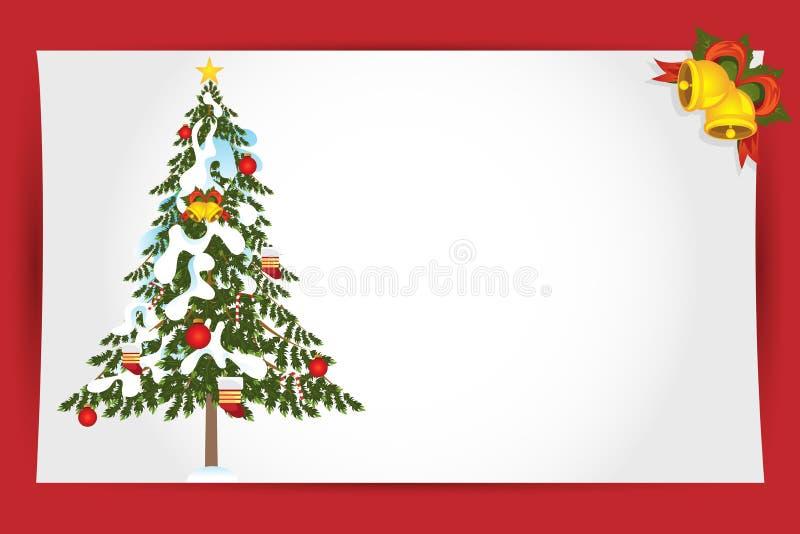 看板卡圣诞节问候 皇族释放例证