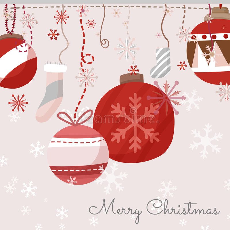 看板卡圣诞节问候 库存例证
