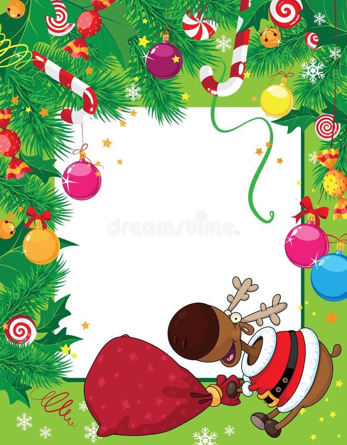 Download 看板卡圣诞节鹿 向量例证. 插画 包括有 甜点, 丝带, 愉快, 冬天, 圣诞节, 丁当, 响铃, 糖果 - 22350589