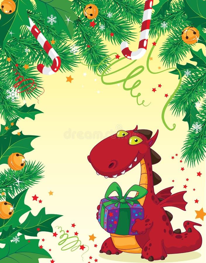 Download 看板卡圣诞节龙红色 向量例证. 插画 包括有 红色, 糖果, 圣诞节, 空白的, 神仙, 动画片, 神话 - 22350691