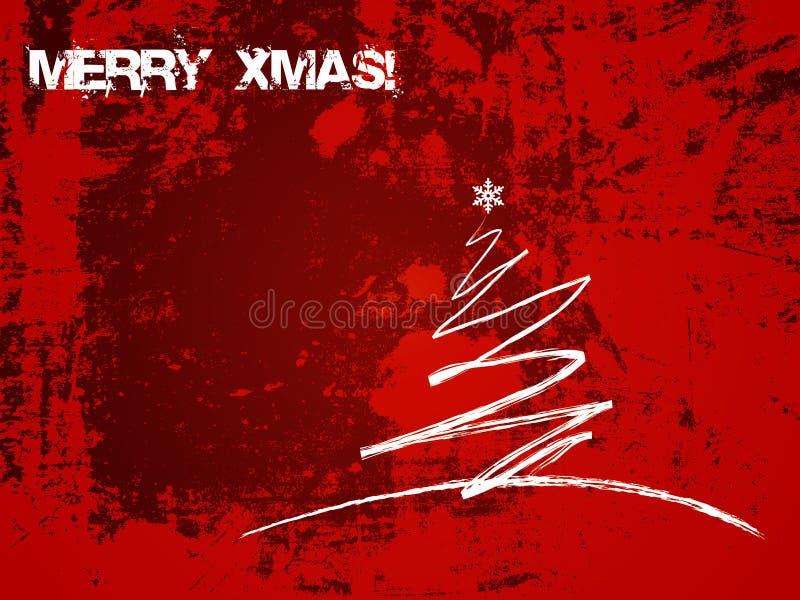 看板卡圣诞节grunge 皇族释放例证