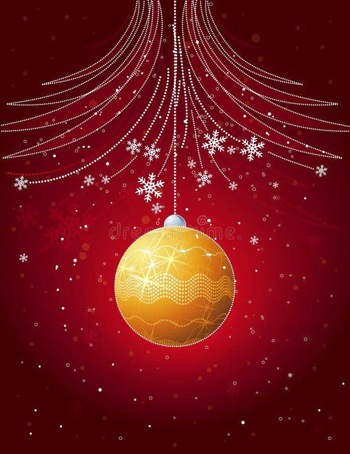 看板卡圣诞节il红色向量 向量例证