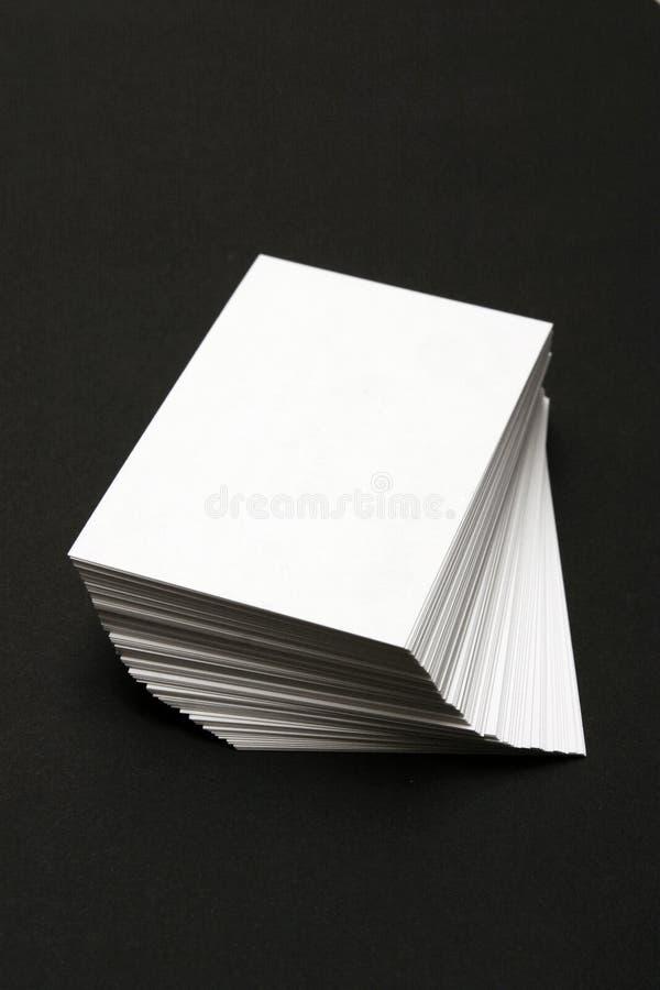 看板卡堆积白色 库存图片