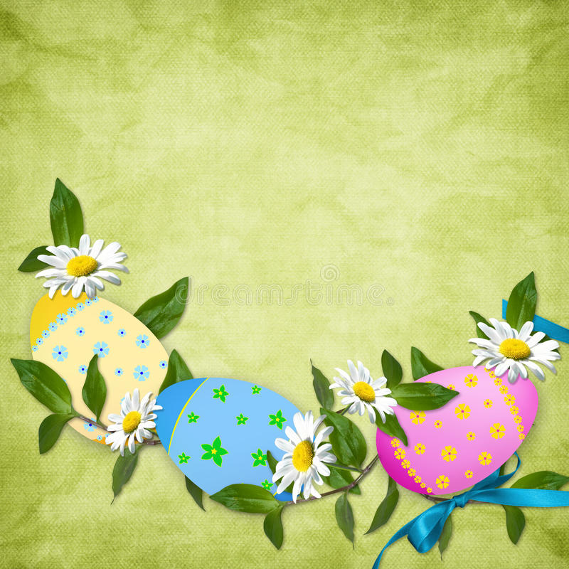 看板卡复活节彩蛋节假日 库存例证