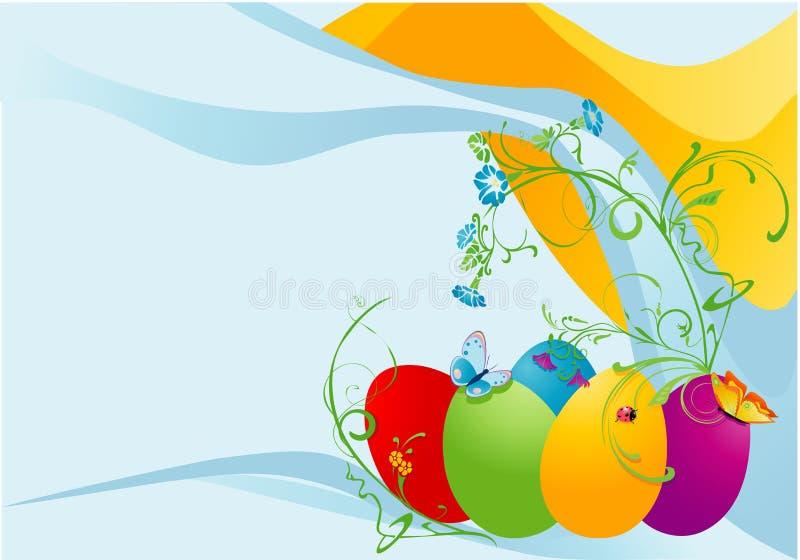 看板卡复活节春天 向量例证