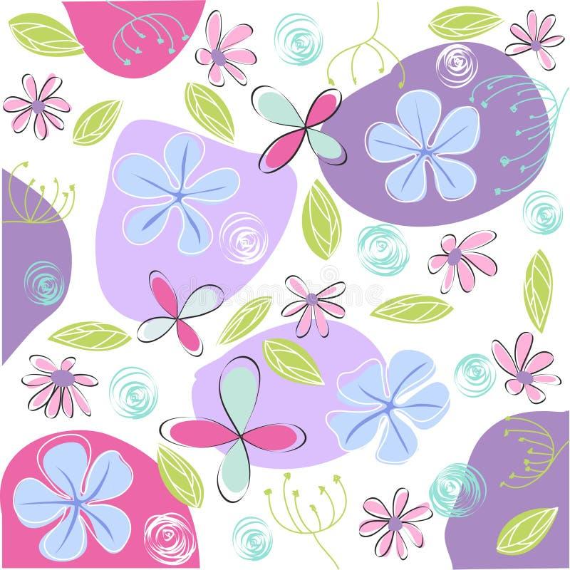 看板卡复活节花卉问候 皇族释放例证