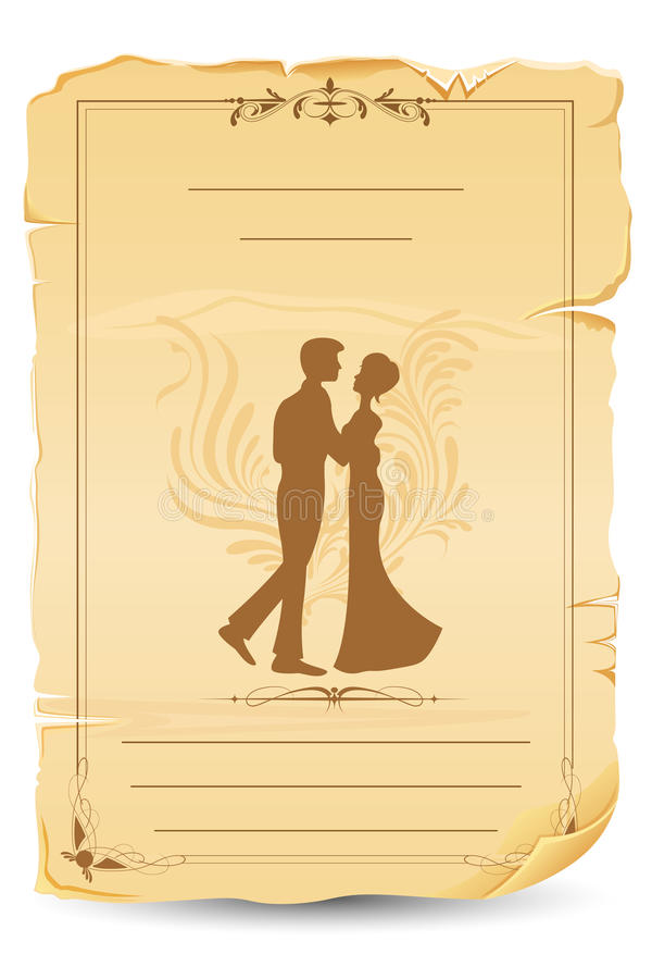 看板卡婚礼 库存例证