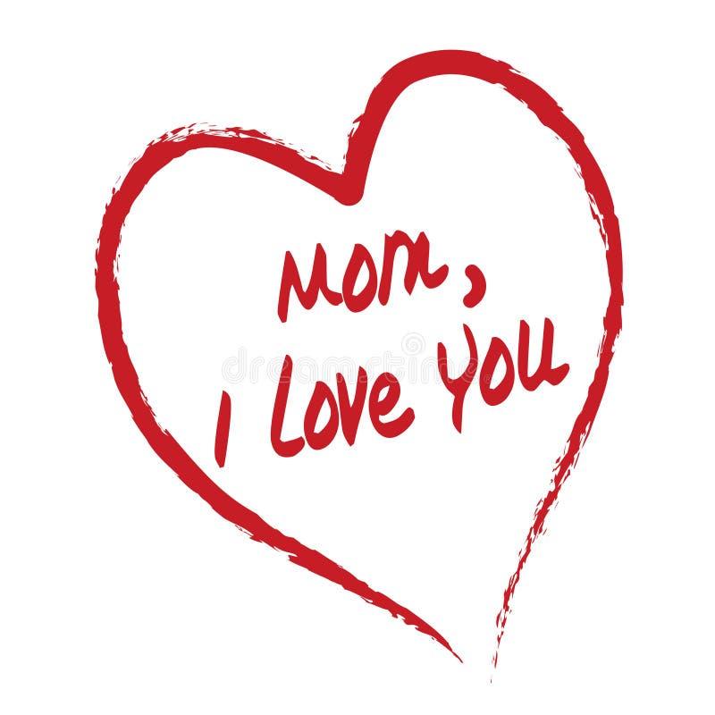 看板卡我爱妈妈您 向量例证