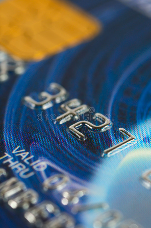 看板卡接近的赊帐数字 免版税库存照片