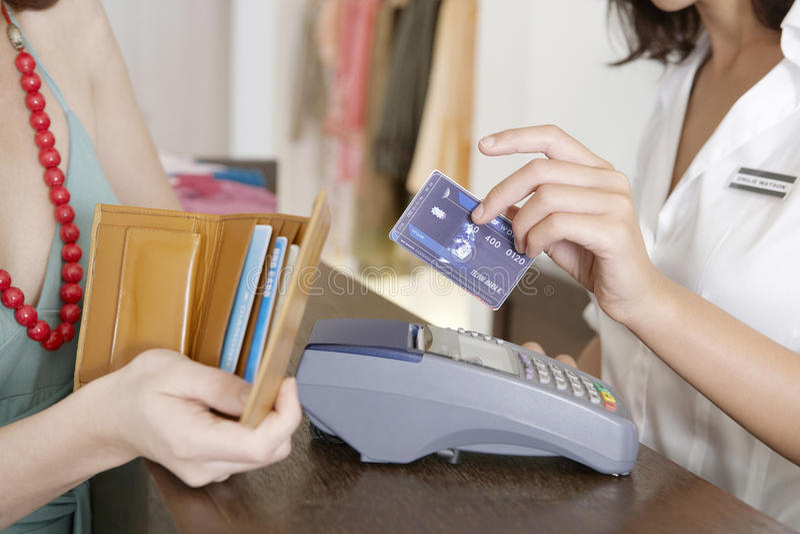 看板卡支付 库存照片
