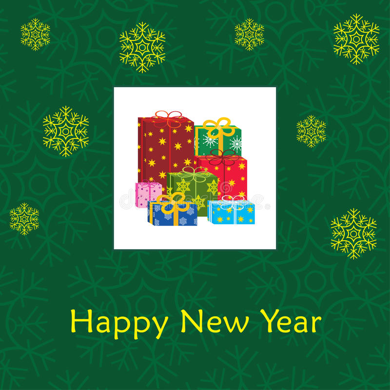 Download 看板卡新的s年 向量例证. 插画 包括有 冬天, 金子, 符号, 惊奇, 看板卡, 装饰品, 没人, 红色 - 22357196
