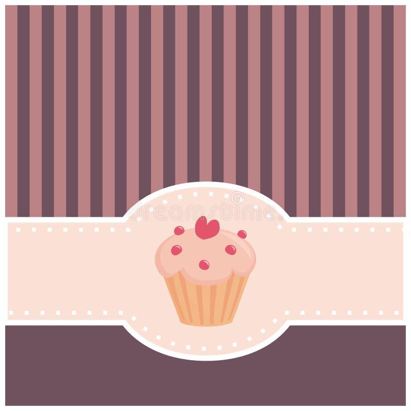 看板卡杯形蛋糕重点邀请松饼 库存图片