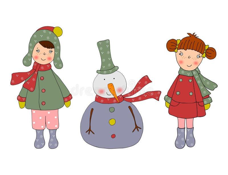 看板卡漫画人物圣诞节 库存例证