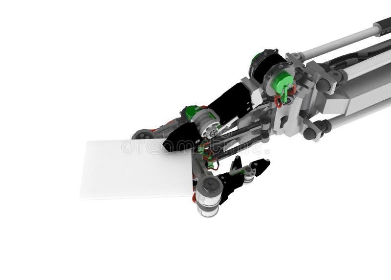 看板卡现有量机器人白色 库存例证