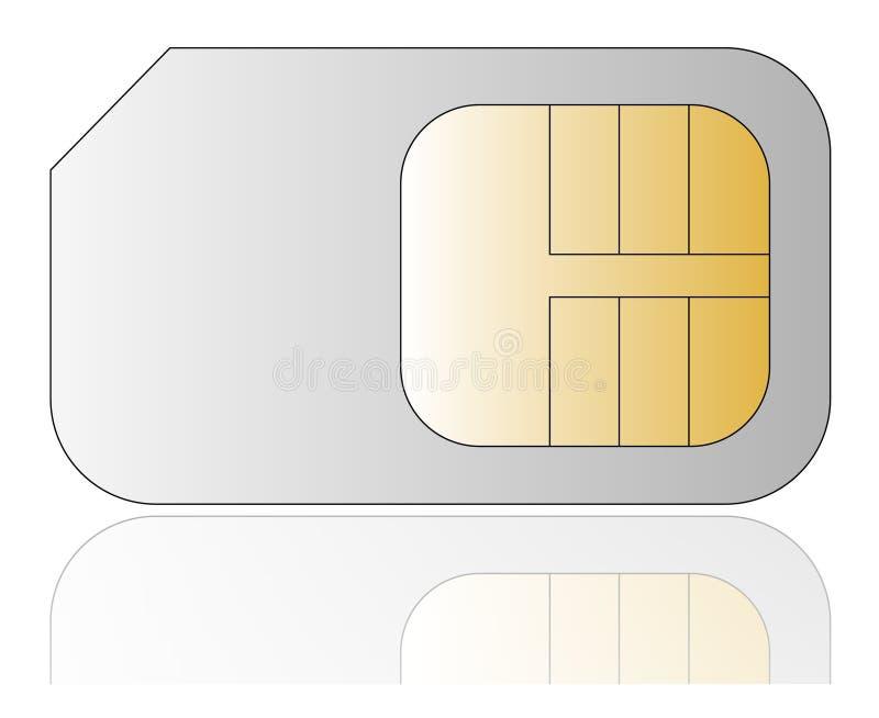 看板卡移动电话sim 皇族释放例证