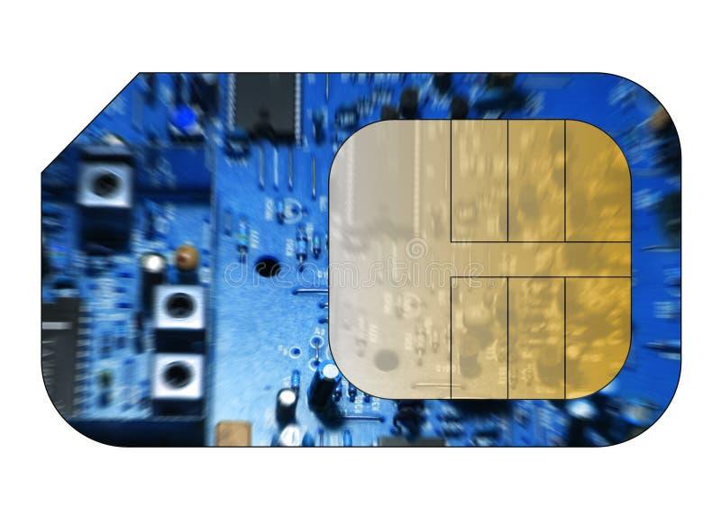 看板卡移动电话sim 图库摄影