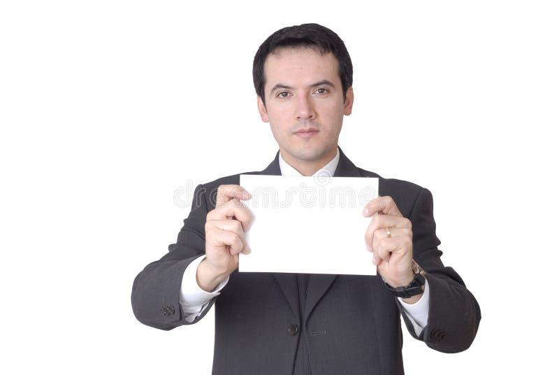 看板卡空的白色 免版税库存图片