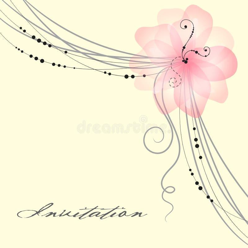 看板卡花卉婚礼 向量例证