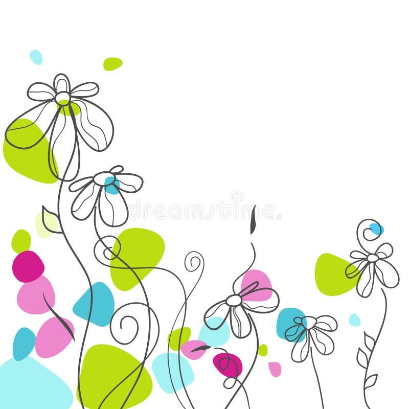 看板卡花卉问候 向量例证