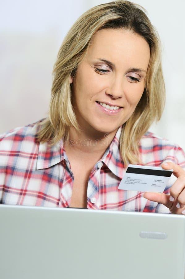 看板卡计算机赊帐 免版税图库摄影