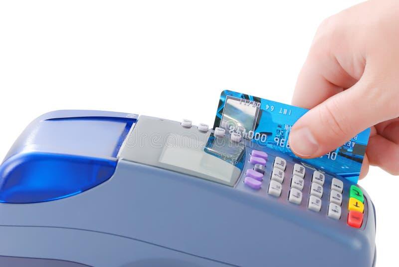 看板卡赊帐支付 库存照片