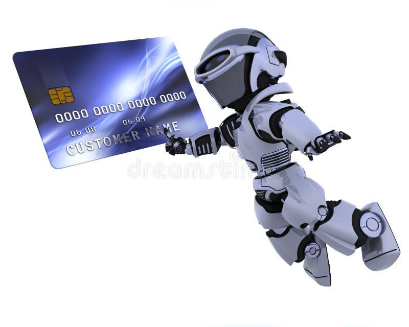 看板卡赊帐机器人 向量例证