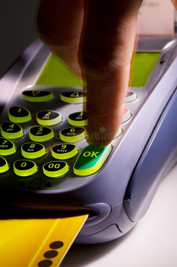 看板卡赊帐设备 免版税库存图片